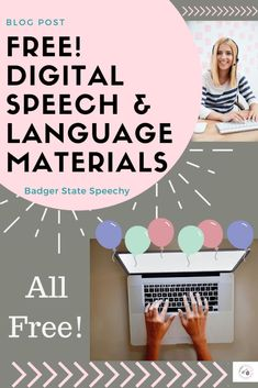A summary of free digital materials for speech and language that can be used by teletherapists or brick and mortar SLPs. Speech Activities, Speech Language Pathology, Speech Therapy Activities, Language Activities, Speech And Language, Articulation Activities, Articulation Therapy, Language School, Play Therapy Techniques