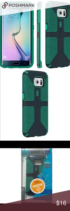 Samsung Galaxy S6 Edge Designer Case Cover Speck Green and Black Samsung Galaxy S6 Edge Case with CandyShell Grip New in box Accessories Phone Cases