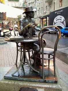 Ukraine Travel Inspiration - Kiev, Ukraine ~ never have coffee alone again. LOL!