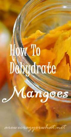 Step by step direction for dehydrating mangoes. #beselfreliant