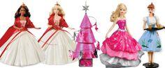They are so pretty ! Hallmark Holidays, Hallmark Ornaments, Barbie Shoes, Barbie Dolls, Christmas Barbie, Xmas, Christmas Ornaments, Garages, Vintage Barbie
