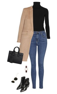 """Unbenannt #467"" by llsbo ❤ liked on Polyvore featuring Acne Studios, Topshop, rag & bone, Ray-Ban, Daniel Wellington, Yves Saint Laurent, women's clothing, women's fashion, women and female"