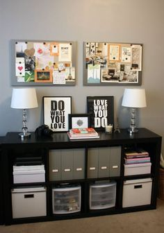 Office Inspiration - B Loved Boston. Get inspires and dream big! Home office decor is a great way to be productive and achieve goals. If you need home office inspiration, this is the way.