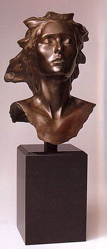 "Frederick Hart ""Celebration Suite, Female Bronze Sculpture""  2002 Bronze Sculpture"