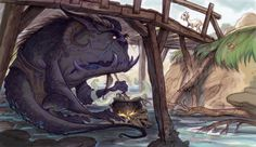 Copyright Trolls – Firm Standing or Stuck Under a Bridge? Troll, Billy Goats Gruff, Children's Book Illustration, Book Illustrations, Norse Mythology, Vintage Children's Books, Creature Design, Game Art, Scandinavian