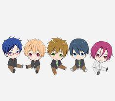 Free! - Iwatobi Swim Club, haruka nanase, haru nanase, haru, nanase, haruka, rin matsuoka, rin, matsuoka, makoto tachibana, makoto, tachibana, nagisa hazuki, nagisa, hazuki, rei ryugazaki, rei, ryugazaki, free!, iwatobi, chibi
