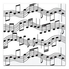 Musical Note Lunch Napkins - PartyCheap