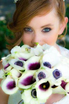 Anemone & picasso calla lily bouquet