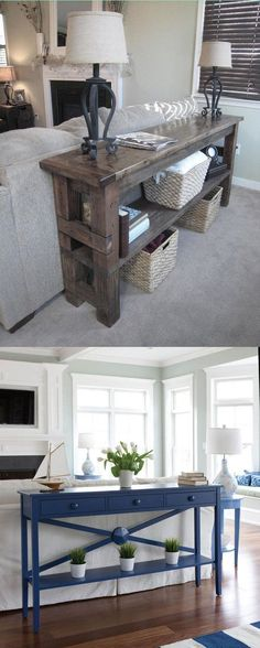 47 Best Table Behind Couch Images