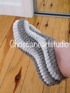 Chaussons tricoté chaussons pantoufles en laine cadeau pour   Etsy