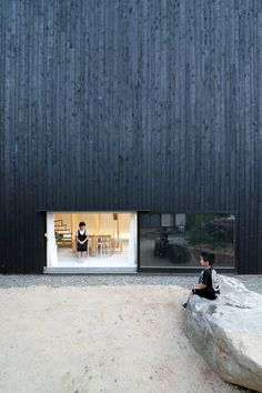 Katsutoshi Sasaki's minimalist home has a dark exterior and a light interior - Japanese Architecture Architecture Design, Cultural Architecture, Minimalist Architecture, Japanese Architecture, Residential Architecture, Contemporary Architecture, Pavilion Architecture, Sustainable Architecture, Japanese Home Design