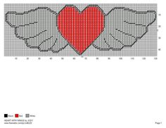 HEART WITH WINGS by JODY -- WALL HANGING