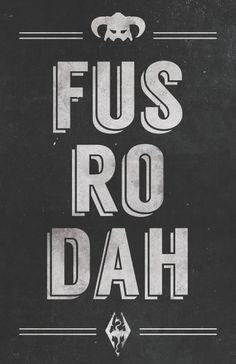 Skyrim Fus Ro Dah Poster - Created by Dylan West Posters are available for purchase at his Etsy Shop. Elder Scrolls Games, Elder Scrolls V Skyrim, Elder Scrolls Online, Skyrim Wallpaper Iphone, Tes Skyrim, Skyrim Map, Skyrim Dragon, Skyrim Fanart, Gamers