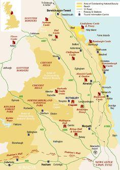Northumberland tourist map - Google Search