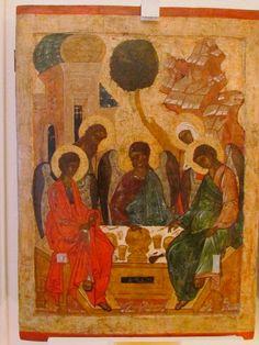 Hospitality of Abraam, Pskov icon