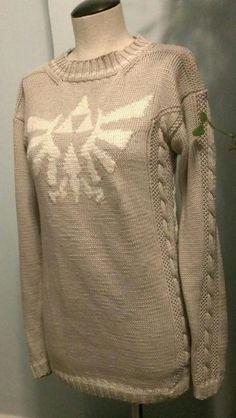 Sweater pull + #Triforce erop | #Zelda #geekfashion #Nintendo