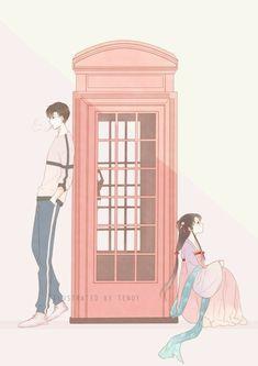 Manga Love, Anime Love, Anime Chibi, Manga Anime, Animated Love Images, Romantic Manga, Anime Family, Couple Cartoon, Anime Fantasy