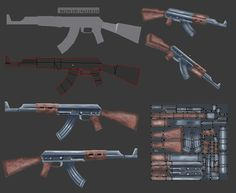 Lowpoly AK47 by mcunha98 on DeviantArt