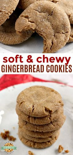 Soft Gingerbread Cookies are chewy, delicious and the perfect cookie for the hol. Soft Gingerbread Cookies are chewy, delicious and the perfect cookie for the holidays! This Gingerbread Cookie recipe is full of the flavors of cinnam. Soft Cookie Recipe, Ginger Bread Cookies Recipe, Ginger Snap Cookies, Easy Cookie Recipes, Sweet Recipes, Baking Recipes, Chewy Ginger Cookies, Gingersnaps Cookies Recipe, Ginger Snaps Recipe