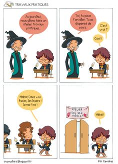 À Poudlard / At Hogwarts - Harry Potter Parody: Travaux pratiques / Arts and crafts