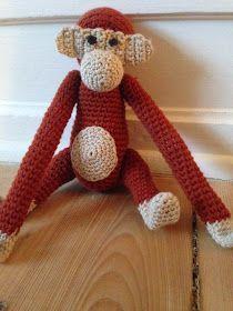 byoestergaard: Hæklet abe Crochet Books, Knit Crochet, Hygge, Small Monkey, Crochet Monkey, Abe, Animals And Pets, Felt, Teddy Bear