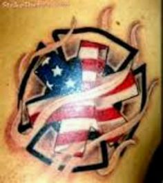 EMS Firefighter tattoo shared by NYC Firestore Ems Tattoos, Future Tattoos, Body Art Tattoos, Cool Tattoos, Tatoos, Amazing Tattoos, Lion Tattoo, Arm Tattoo, Sleeve Tattoos