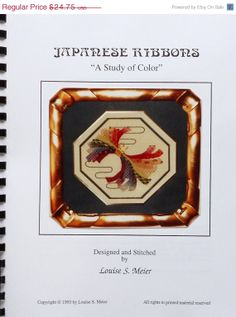 ON-SALE Louise S. Meier Japanese Ribbons A Study of Color - Needlepoint Pattern Book & Instructions Project Guide