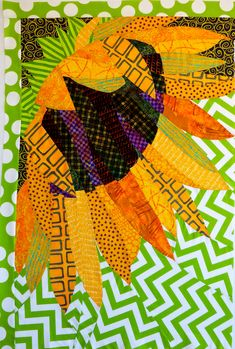 Summer's Smile, Helianthus by Ann P. Shaw | Ann Shaw Quilting