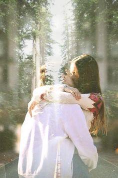 kiss embrace hug love couple romance forest nature beautiful sunlight dreamy