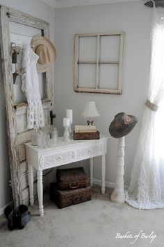 country chic decor home. I love everything about this!!