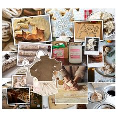 [Baking Christmas cookies] by lejournaldessecrets on Polyvore featuring Isabel Marant, H&M, Topshop, Dibor, Farmhouse Pottery, Prada, Winter and Christmas