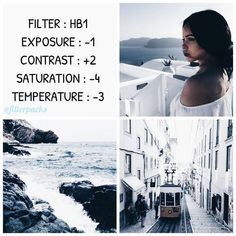 This is a very cool tone contrasted filter. It only works on colors like white, blue, tan, and a bit of green. It would look for a feed if the picture looks a bit off then just make some adjustments ☺️ QOTD : what do you do in your free time? Vsco Feed, Instagram Theme Vsco, Instagram Feed, White Instagram Theme, Photography Filters, Photography Editing, Modern Photography, Photography Zine, Photography Composition
