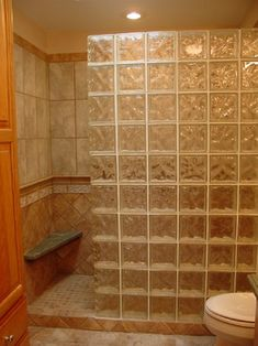 Glass Block Shower Wall Design Ideas, Pictures, Remodel, and Decor - page 5