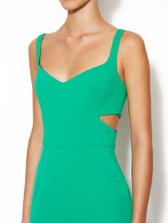 Latta Cut-Out Sheath Dress by Jay Godfrey: Side View of cut out that are on both sides of the dress.