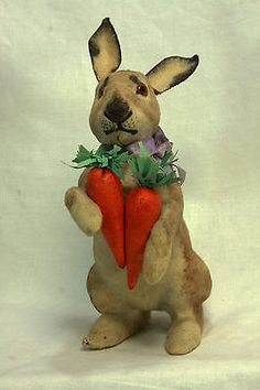 Antique German Easter Rabbit Candy Container  c1910