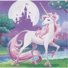 48ct Unicorn Fantasy Beverage Napkins