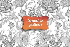 Best Floral seamless pattern. Vector  CreativeWork247 - Fonts, Graphics, Th...
