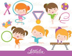Gymnastic girl clip art - Gymnastic clipart - 15010