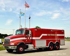 Delaware City Refining Company/PBF Energy  Commercial Foam Tanker ~  International 5900 TA SBA 6 x 4 Two Door Chassis, 300 gpm Foam PTO Driven Pump, 4000 Gallon Poly Foam Tank