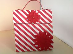Handbag using Stampin'Up! Brights Colour Collection DSP, Real Red Cardstock.