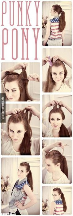 Cooler Punk-Pony-Tail