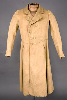 Wool great coat, English, Double breasted broadcloth with waist seam… Historical Costume, Historical Clothing, Men's Clothing, Antique Clothing, Victorian Fashion, Vintage Fashion, Men's Fashion, Victorian Life, Fashion History