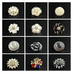 Vintage Designer Pearl Shank Rhinestone Crystal Decorative Coat Button  wedding Dress Diamante Decorating Buttons Clothing Buttons bf87f7769112