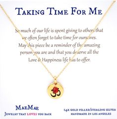 So much of our life is spent giving to others that we often forget to take time for ourselves. May this piece be a reminder of the amazing person you are and that you deserve all the Love & Happiness life has to offer.  #simplenecklace #daintynecklace #affirmationnecklace #inspirationalnecklace #ompendant