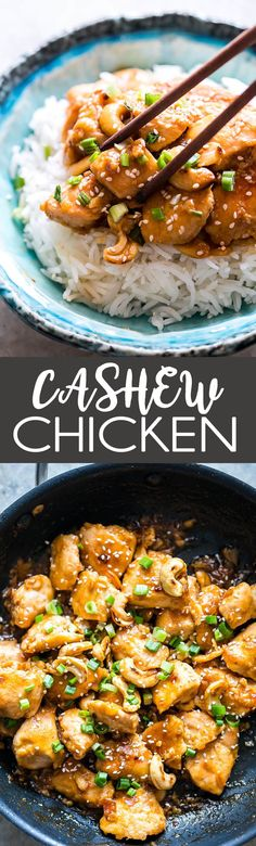 Easy to make, and easier to eat, this cashew chicken is better than takeout, is loaded with flavor, and comes together quickly. Dinner winner.