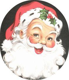 Love vintage santas!!  Printable