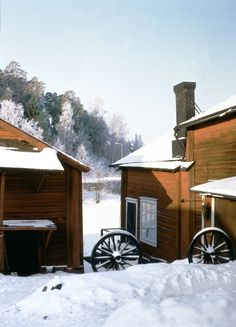 Snowy winter landscape. www.visitporvoo.fi Christmas Town, Winter's Tale, Winter Landscape, Winter Time, Finland, Winter Wonderland, House Styles, Beautiful, Snow