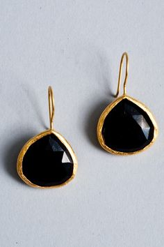 3e0e6d7df803 black and gold onyx teardrop earrings Aretes De Oro