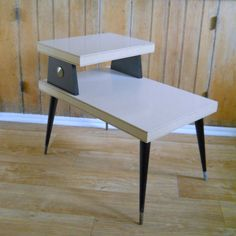 1960 S End Table Two Tier Mid Century Blond By Lisabretrostyle2 Modern