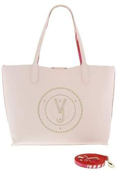 Versace Light Pink Tote Bag W/ detachable storage pouch and shoulder strap Pink Tote Bags, Versace, Shoulder Strap, Pouch, Storage, Purse Storage, Sachets, Larger, Porch